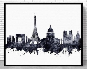 Decoración de París, Paris Grabado, Skyline de París, París Francia, cartel de París, París impresión del arte, París pared arte, arte urbano, ArtPrintZone