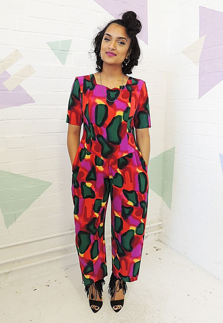 Vintage 80's Multi coloured Festival style Jumpsuit | Roxyvaletta | ASOS Marketplace