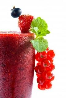 300ml Pure Orange Juice  1 Large Banana  150g Blueberries  150g Raspberries  1 Tbsp Baobab Fruit Powder   -Add all ingredients to a blender and blend until smooth-