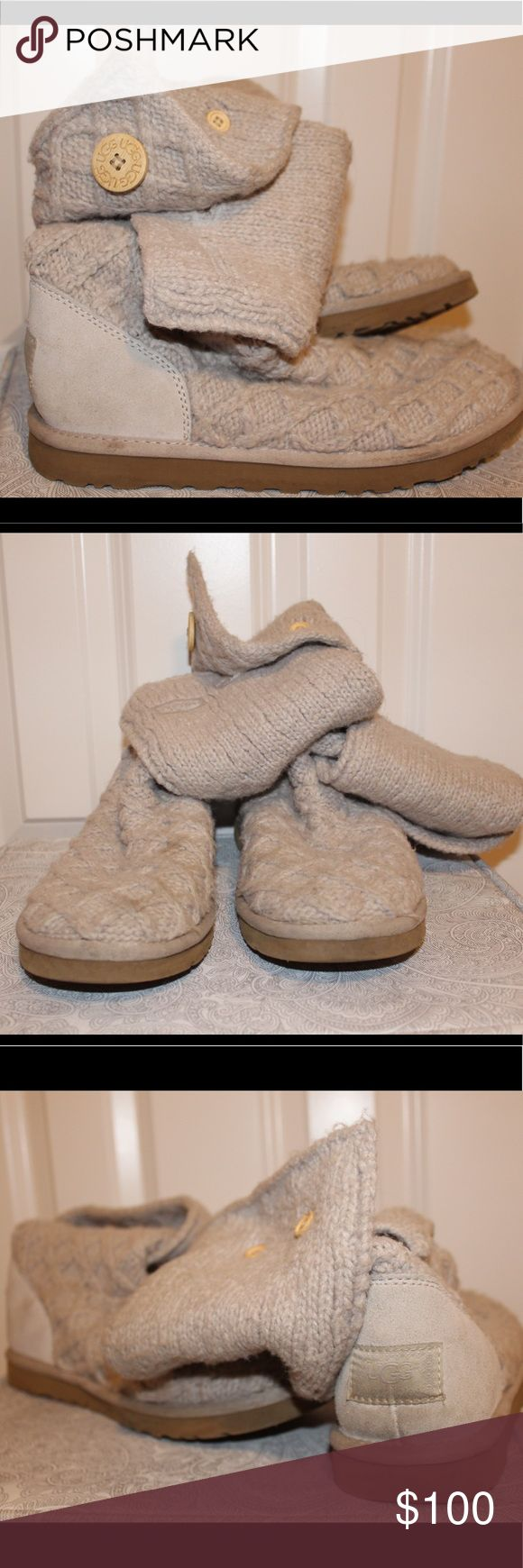 Knit Ugg Boots Grey knit Uggs. Size 10. Good condition. Small mark on top of right boot. Authentic. Purchased at Nordstrom. UGG Shoes Ankle Boots & Booties