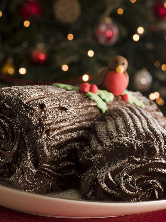 Bûche chocolat noix, pour un dessert vraiment Noël !