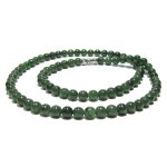 Women really love this natural dark green jade bead necklace.