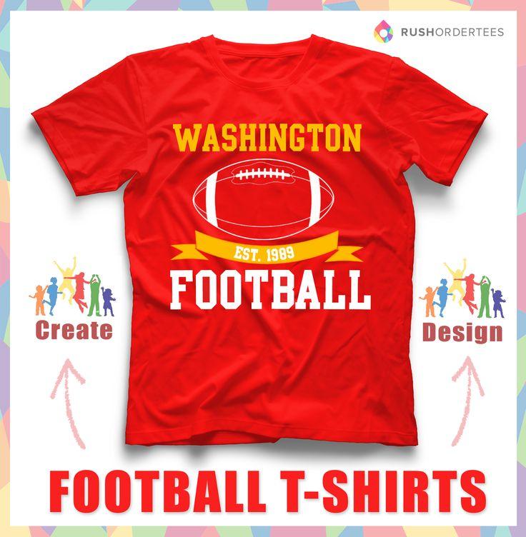 Football custom t-shirt design idea's! Create your own football custom t-shirt for your school team! www.RushOrderTees.com #FootballShirts