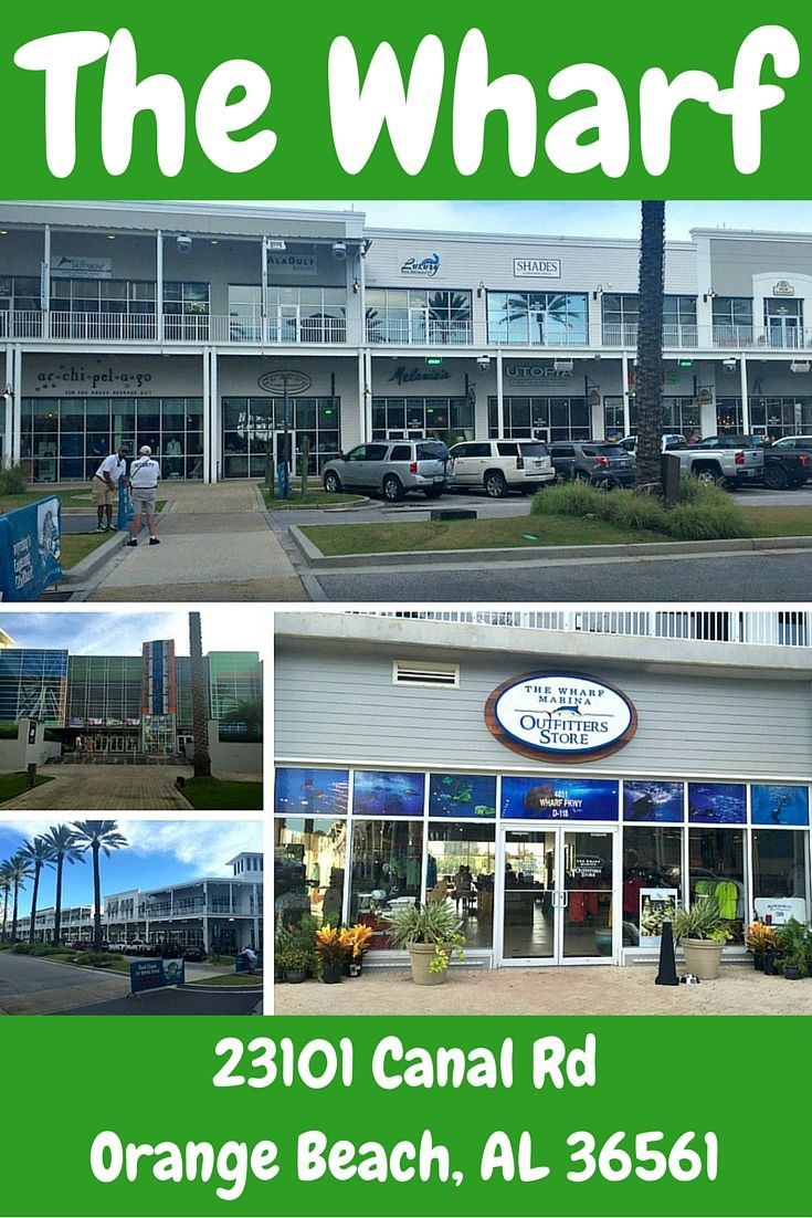 The Wharf shopping and entertainment complex is a huge draw in Orange Beach, Alabama. Check out all the fun things to do, all in an open air environment.