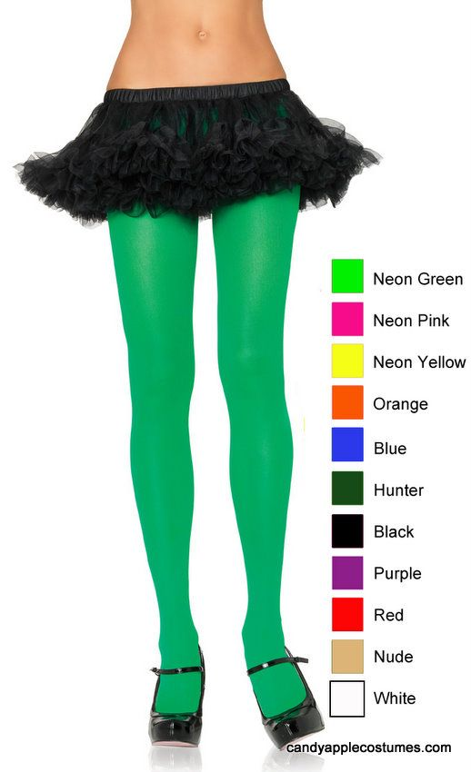 Adult Opaque Nylon Tights - More Colors - Candy Apple Costumes - Dr. Seuss Costumes