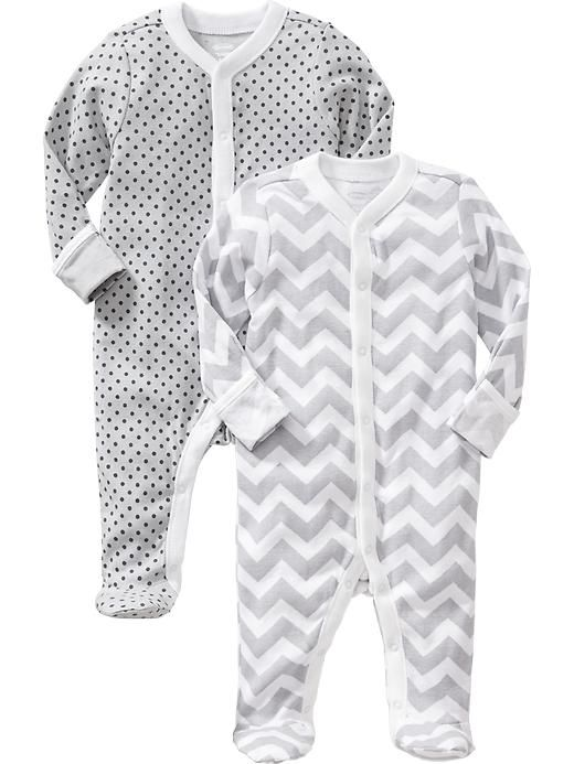 Patterned One-Piece 2-Packs for Baby Product Image