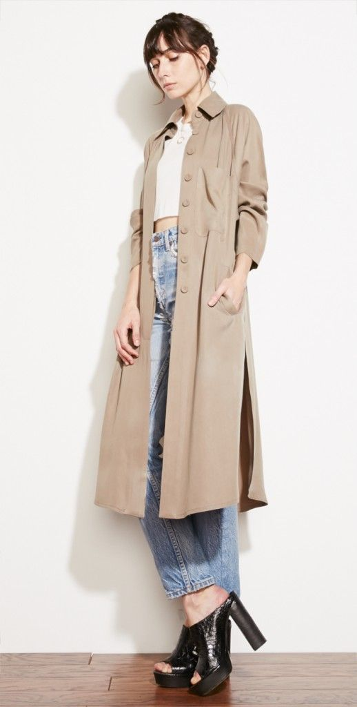 The Reformation trench coat with vintage lines.  Digging this look.