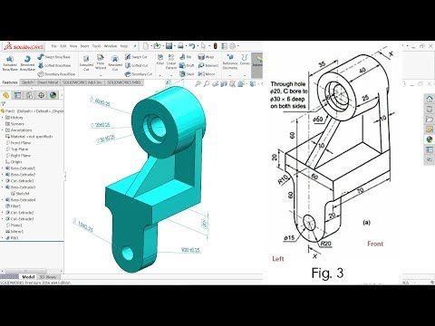Solidworks tutorial for beginners exercise 4 | Autodesk inventor