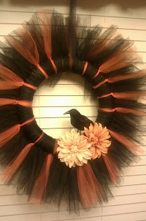 Tattered Bliss: ~Halloween Tulle Wreath~