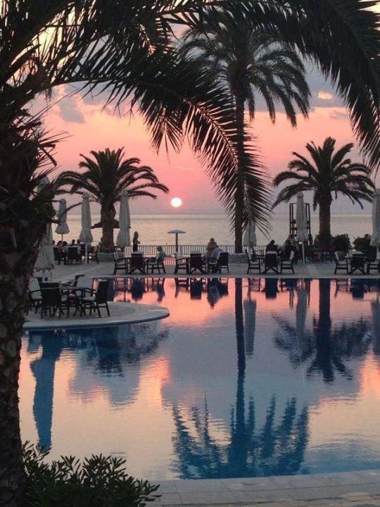 Abendstimmung am Pool ROBINSON Club Kyllini Beach