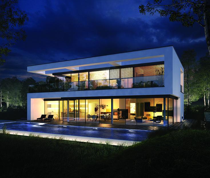 OKAL Planungsvorschlag Villa im Bauhausstil #fert…