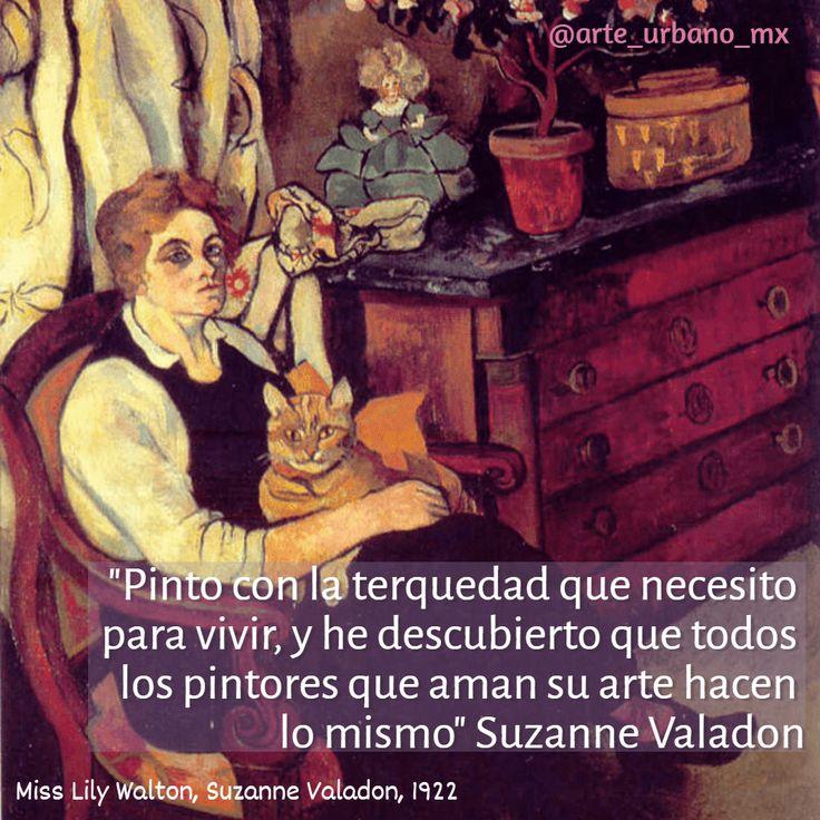 """Suzanne Valadon, fue una pintora francesa. En 1894, Suzanne Valadon fue la primera mujer que administraba la Société Nationale des Beaux-Arts.  """"Pinto con la terquedad que necesito para vivir, y he descubierto que todos los pintores que aman su arte hacen lo mismo.""""  Síguenos también en:   Instagram: https://www.instagram.com/arte_urbano_mx  Facebook: https://www.facebook.com/arteurbanomx"""