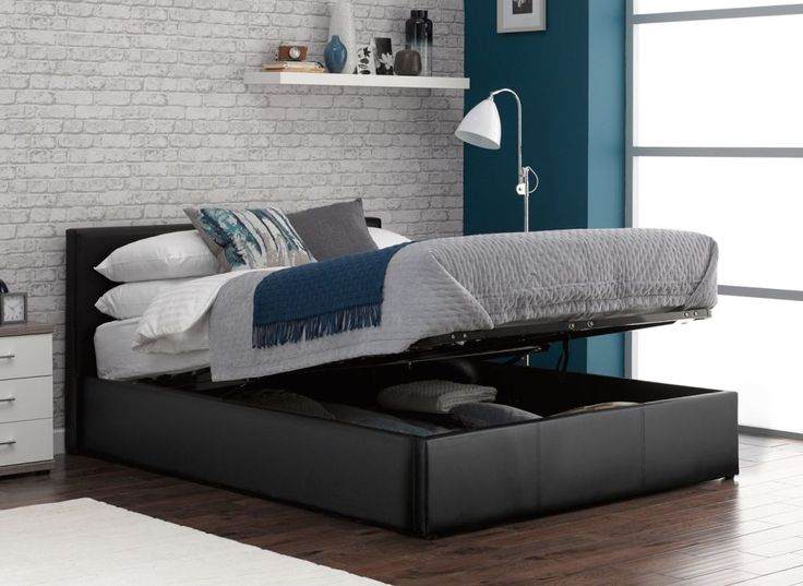 yardley ottoman bed frame storage leather bedroom black upholstered king with drawers