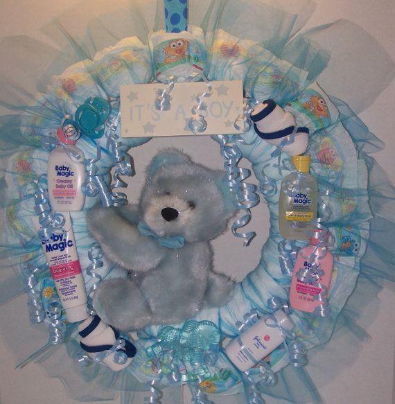 Ours en peluche bleu de coucheculotte Couronne par KarensCakeShop, $45.00