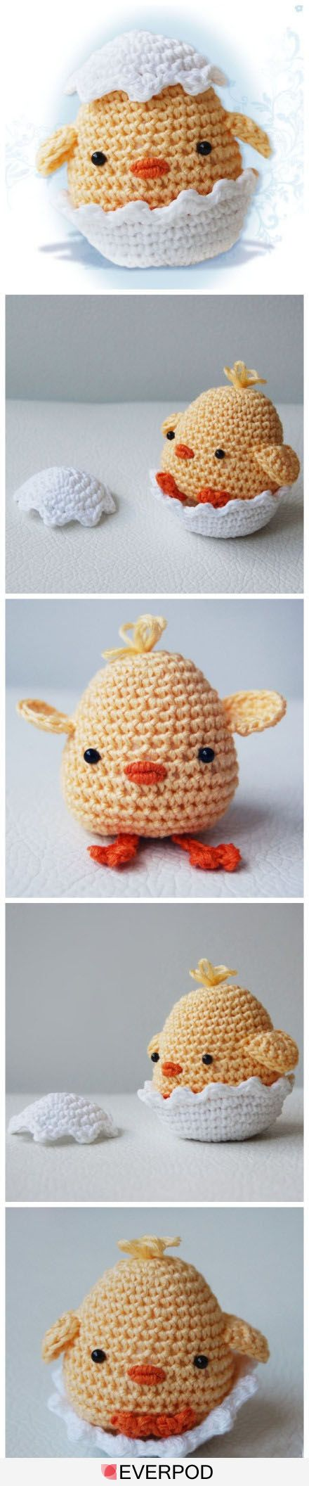cute crochet chick