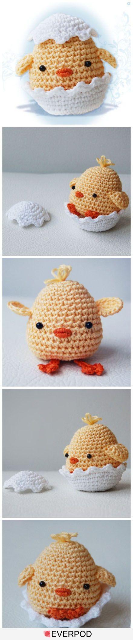 such a cute crochet chick!