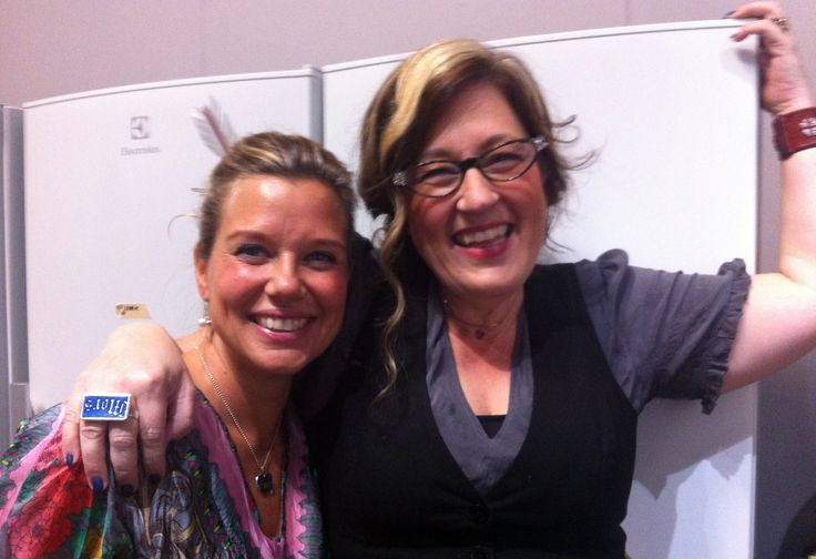 The cookbook authors Emma Hamberg and Anette Rosvall on the bookfair 2013 Gothenburg.