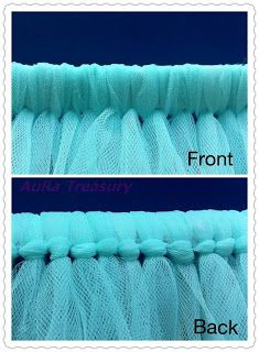 AuRa Treasury: DIY Projects - How to Make a Tutu Skirt / Dress....this is what I was talking about mom, tieing the tulle, ceck it out