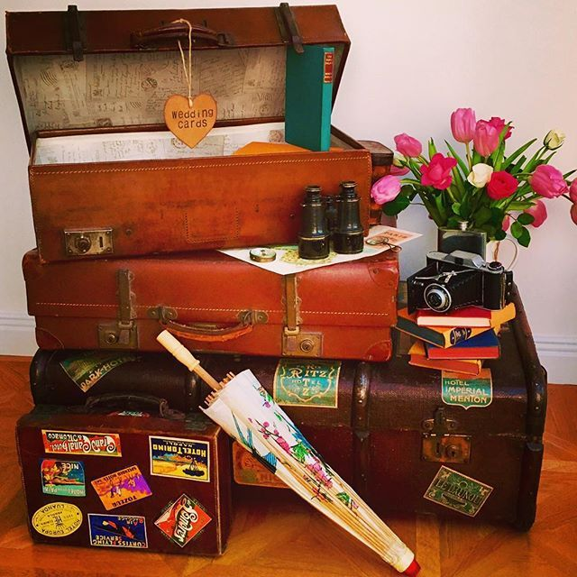 With my trip just around the corner and my attention drawn to packing I thought this picture seemed appropriate. I'll be traveling light in comparison, hand luggage only. My husband has a thing where, regardless of where we go and for how long, he insists we have hand luggage only! Does you other half have any peculiar ways?  #vintageteapartylondon *link to website gallery in bio*