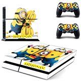 Minions Despicable Me Sony Playstation PS4 Decal Skin Cover Stickers For Console and 2 Controllers