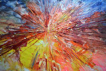 """URKNALL"" Künstler: Simone Labonté Acryl auf Leinwand 150cm x 100cm x 3,5cm #simonelabonte #malerei #acryl #crelala"
