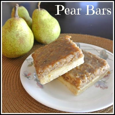 Mom, What's For Dinner?: Pear Bars