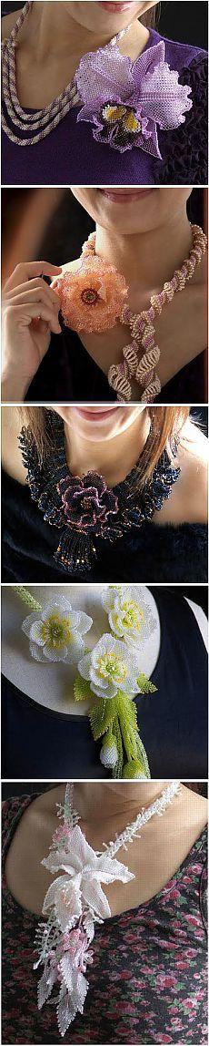 Бисероплетение: цветочные ювелирные изделия