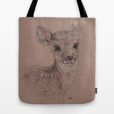 Fawn Tote Bag by Fru Kuhari - $22.00
