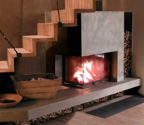 size of corner fireplaces | Cheminees Chazelles corner fireplaces