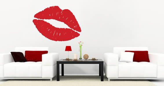 Lips wall clings is available in 5 different sizes and 24 colors.
