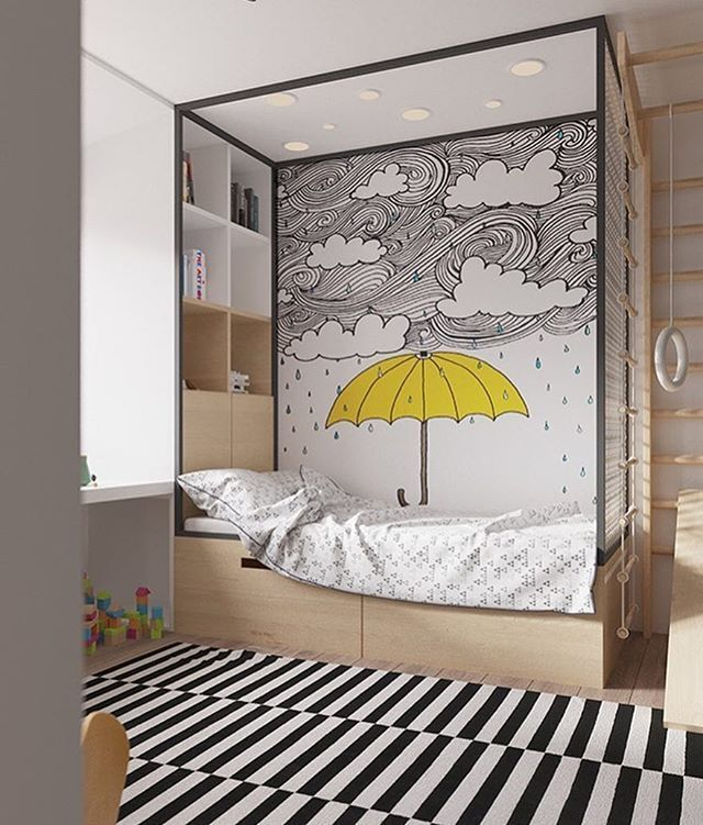 Such a beautiful idea for a kids bedroom