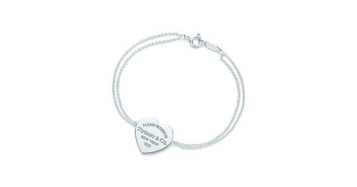 Bracciale con ciondolo a cuore Return to Tiffany™ in argento, medio.