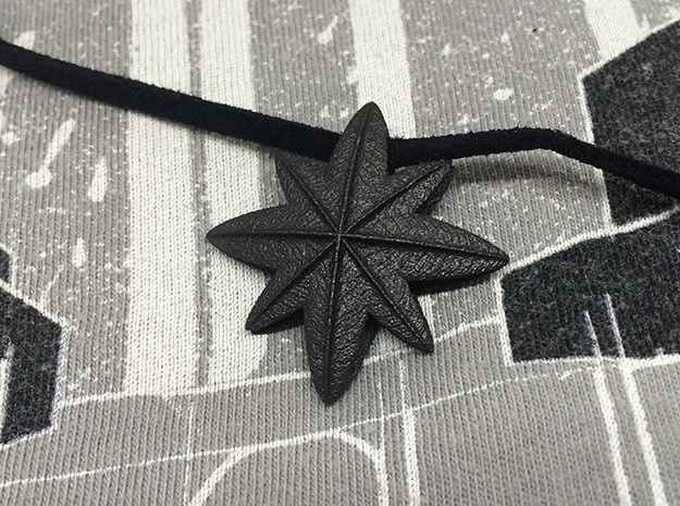 Black Star 3d printed Jewelry Pendants