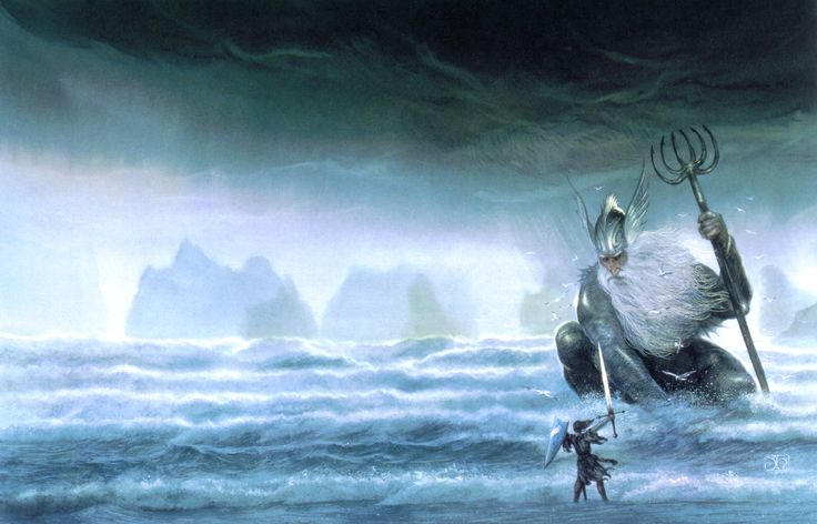 """Ulmo, Lord of the Waters"" by John Howe"