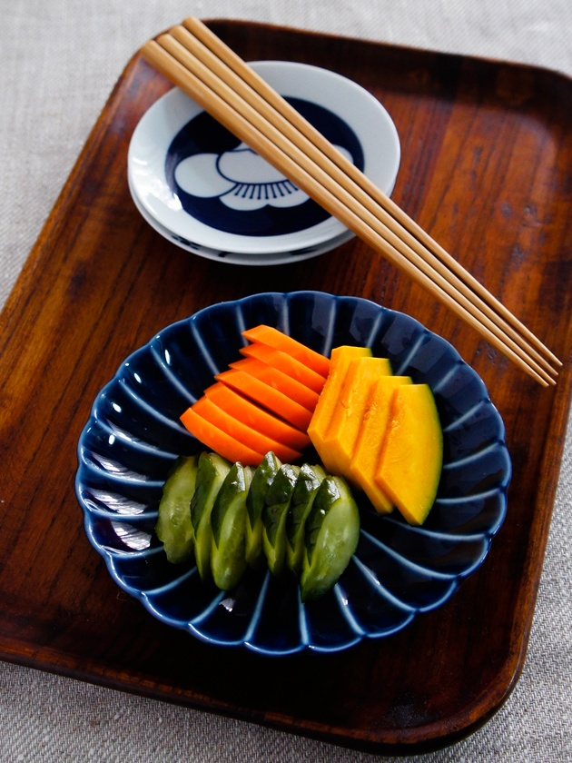 Nukazuke, Japanese Rice Bran Pickled Vegetable (Carrot, Cucumber, Pumpkin)|ぬか漬け