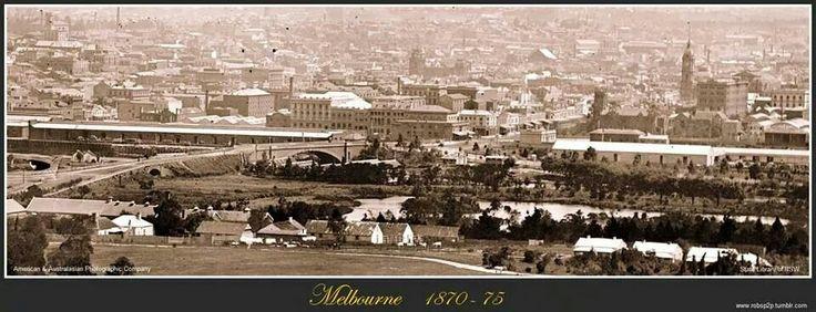 Melbourne 1870 - 75 Fb page Lost Melbourne