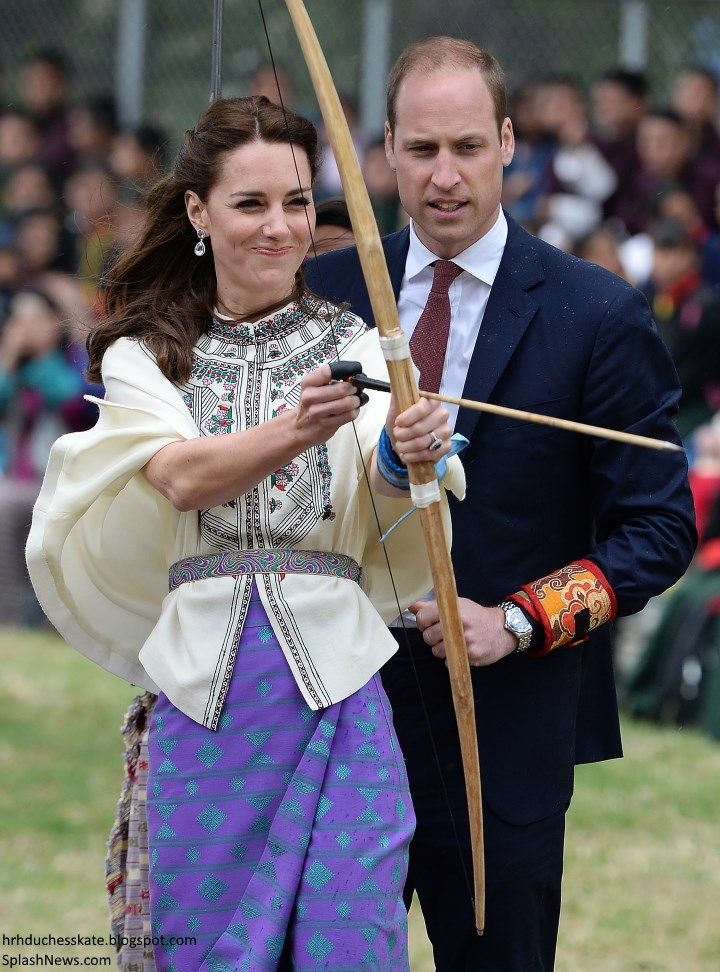 Duchess Kate: UPDATED: Kate in Bhutanese Kira Inspired Look to Meet the King and Queen of Bhutan