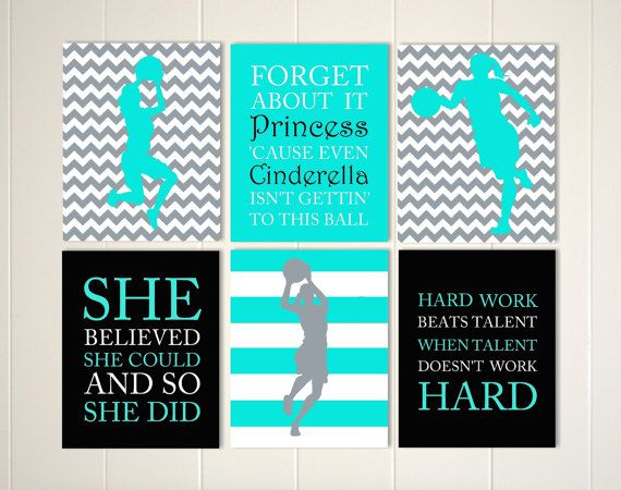 Basketball girl wall art, basketball player, basketball room decor, teen  wall art,