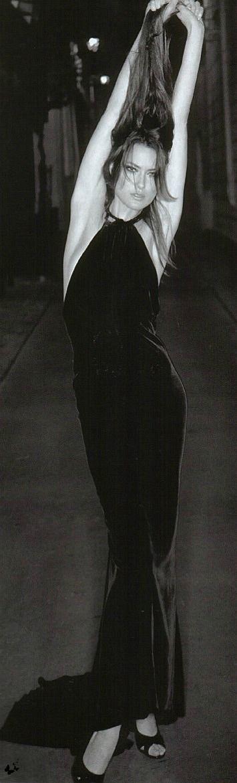 Black Dress / fashion / style / black / white / models / vertical ✔BWC