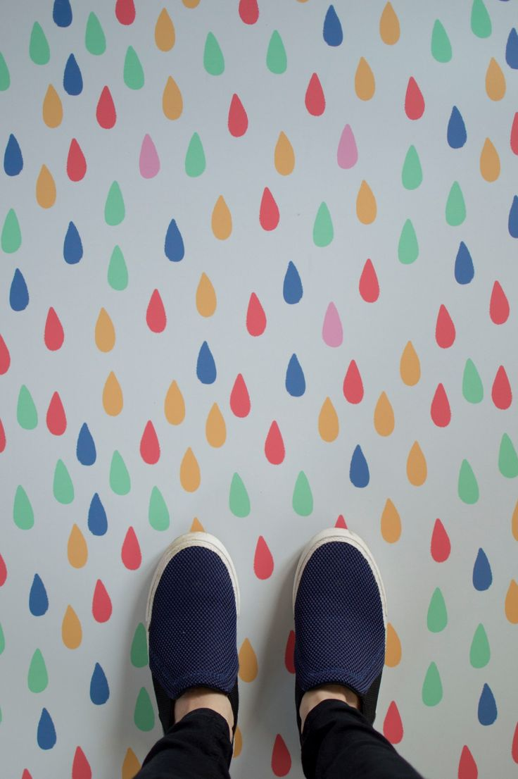 Raindrop multicoloured vinyl flooring