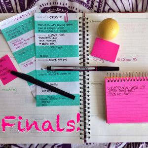 helpful tips for organization and studying during finals