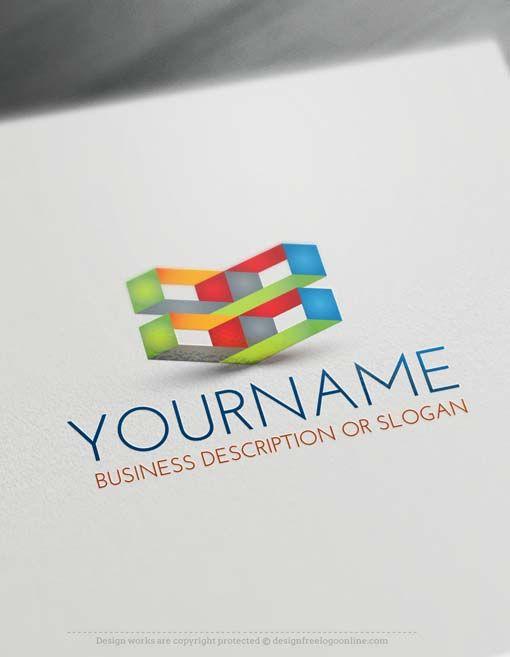 Online Free 3D Logo Maker - Hi Tech Logo Design | Logo ...