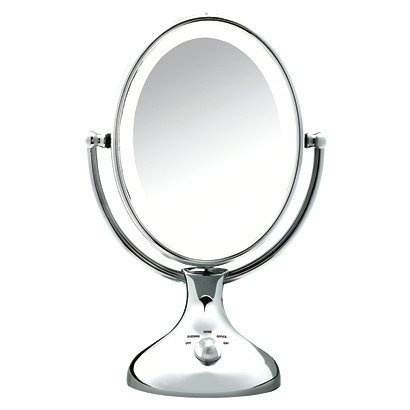 Conair Lighted Double-sided Makeup Mirror - Chrome $35.88 to $54.99 Conair BE18LCX Double Sided Lighted Mirror features: 2-sided, Tabletop. pieces: 1.