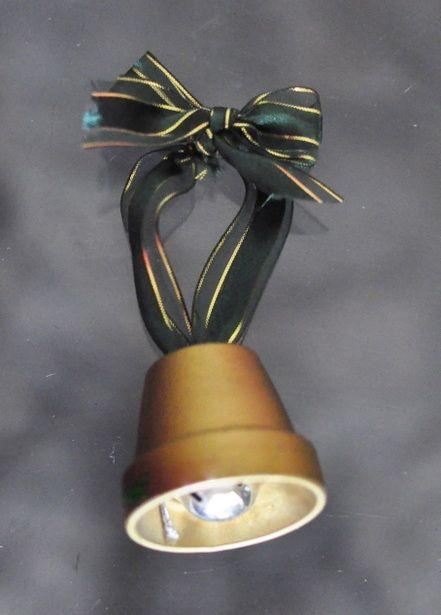 Como hacer adornos para el arbol de navidad: Campana con maceta