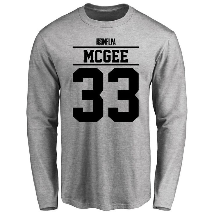 Brandon McGee Player Issued Long Sleeve T-Shirt - Ash