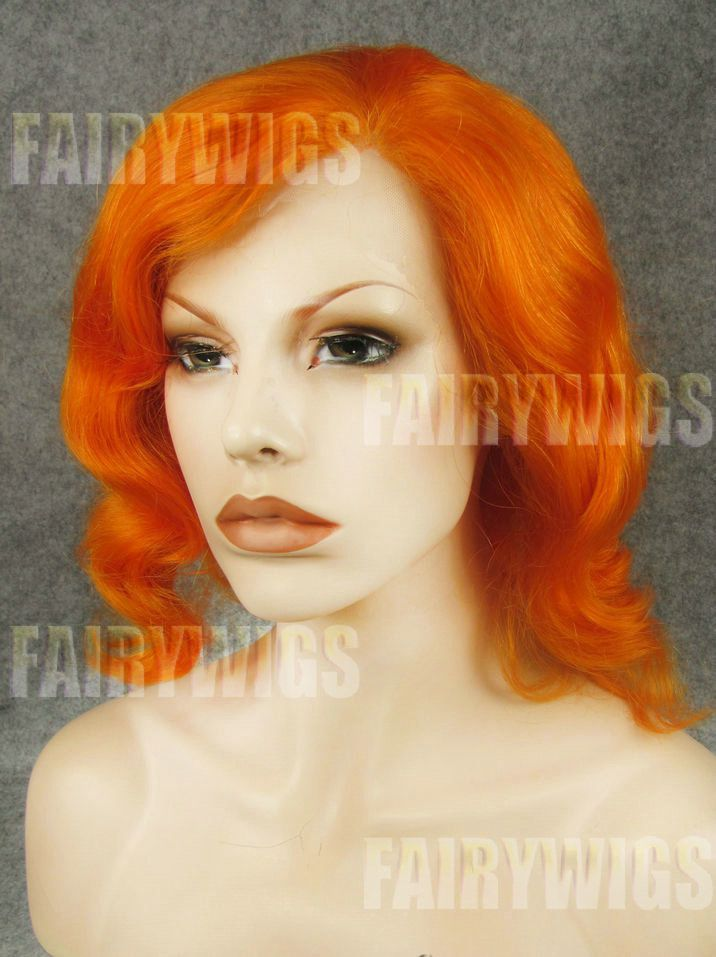 Adjustable Short Female Wavy Lace Front Hair Wig 12 Inch