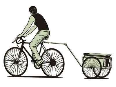 Resultado de imagen para remolque bicicleta pvc