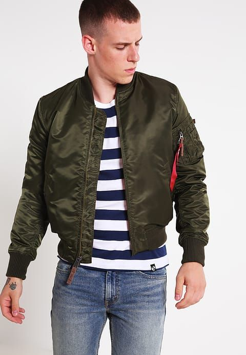 factory authentic faba8 752c3 Bomber Jacket - dark green @ Zalando.co.uk 🛒 | MENS FASHION ...