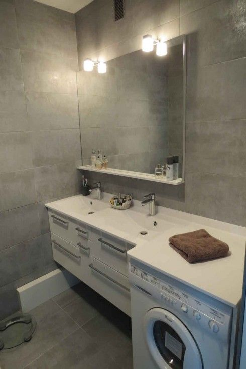 Lave linge sous meuble de salle de bain machine for Consommation machine a laver eau