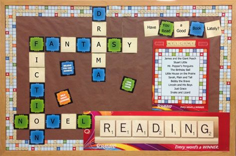 25 best ideas about scrabble bulletin boards on pinterest scrabble words board game themes. Black Bedroom Furniture Sets. Home Design Ideas